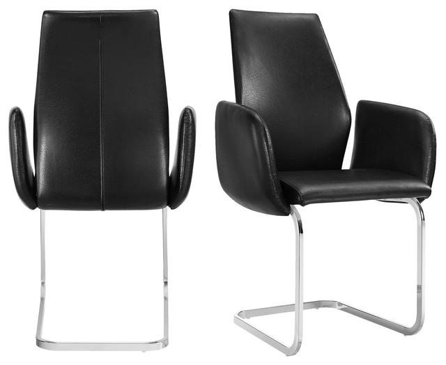 Picket House Furnishings Gigi Arm Chair Set in White, Black
