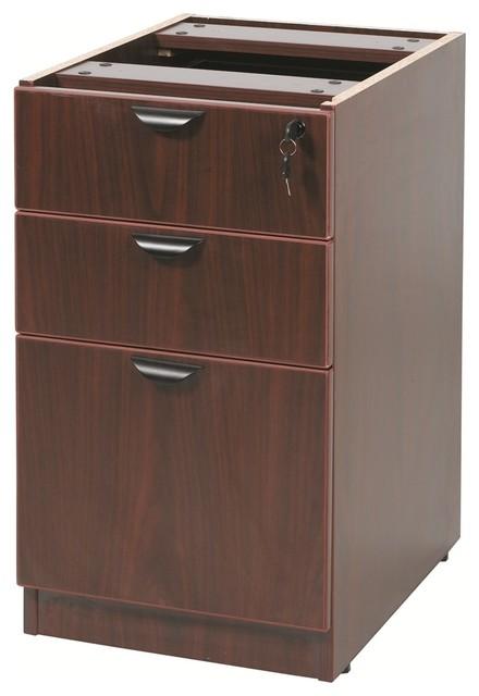 """Boss Deluxe Pedestal-Full, Box/box/file, Mahogany, 16""""x22""""."""