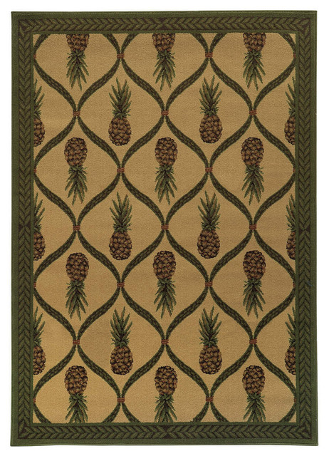 Tommy Bahama Villa 5594a Rug Tan Green Tropical Area