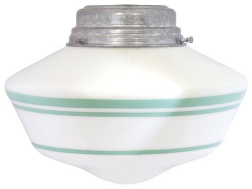 The Rudimentary Schoolhouse Flush Mount Light