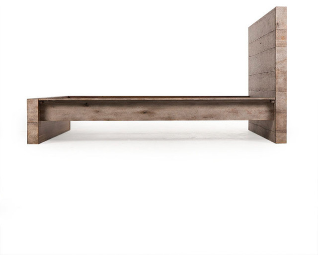 Clinton Reclaimed Wood King Size Platform Bed Rustic