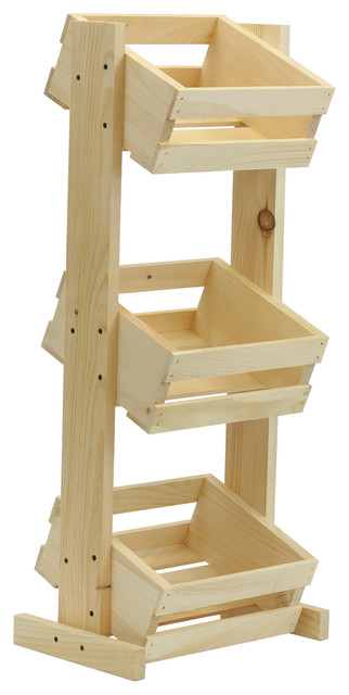 Fresh Small 3-Tier Crate Stand - Farmhouse - Storage Bins And Boxes - by  RT94