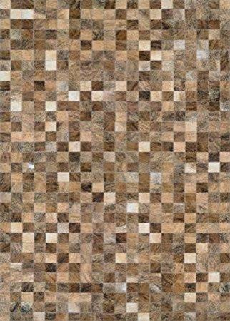 Chalet Pixels Cowhide Leather Area Rugs Brown 8 X11 4