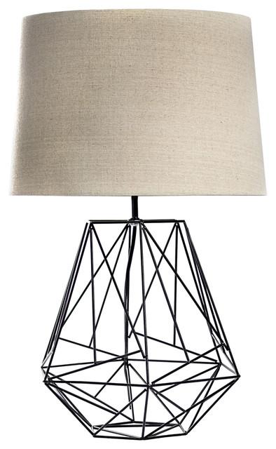 Geometric Metal Cage Table Lamp.