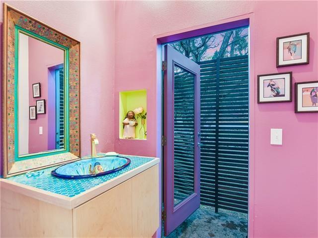 Eclectic bathroom photo in Austin