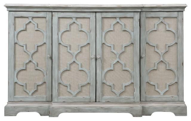 Uttermost Sophie 4 Door Grey Cabinet.