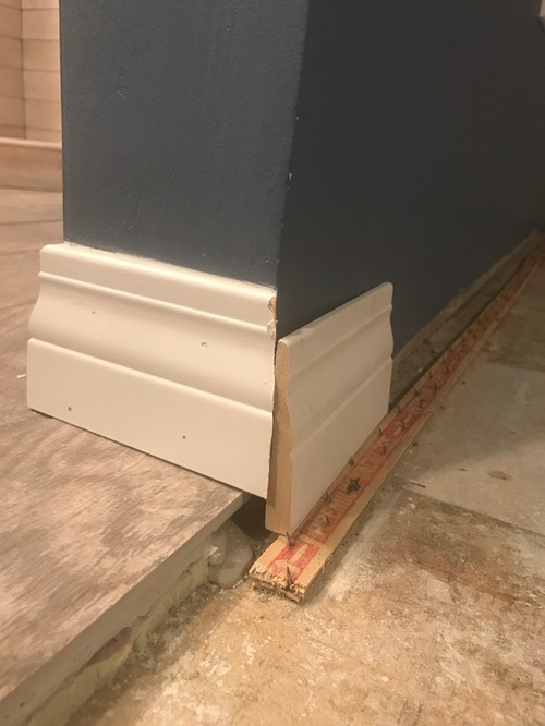 Need Help On Transitioning Baseboard Trim