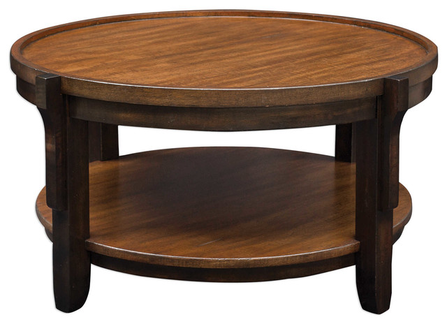 Sigmon Round Wooden Coffee Table.