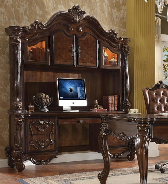 Acme Versailles Computer Deskand Hutch Cherry Oak Victorian Desks And Hutches By Gwg Outlet