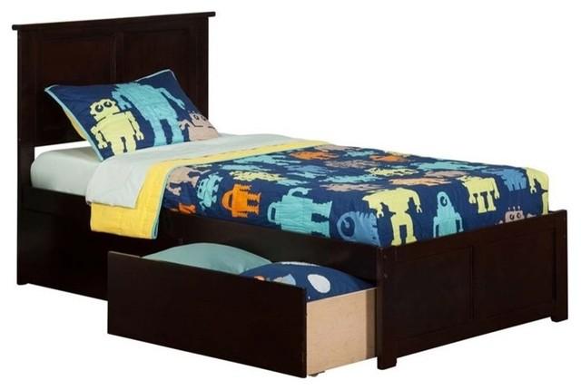 Atlantic Furniture Madison Urban Twin Storage Platform Bed