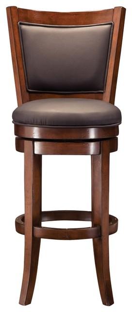 Dublin Leather Swivel Bar Stool bar stools and counter stools