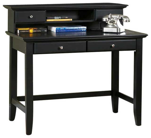 Home Styles Bedford Wood Laptop Writing Desk With Hutch
