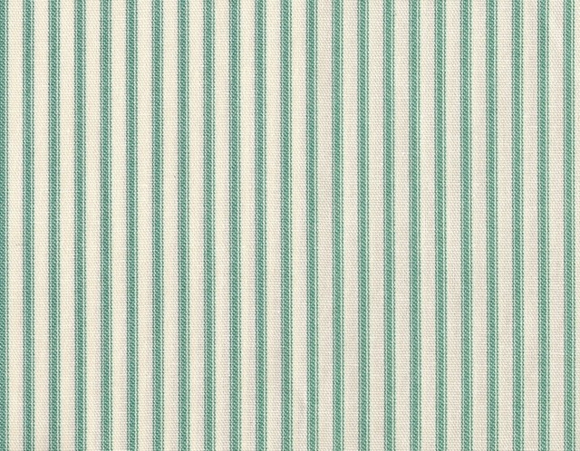 72 Shower Curtain Unlined Pool Blue Green Ticking Stripe