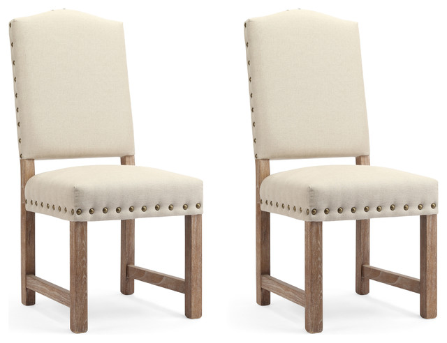 Princeton Upholstered Dining Chairs, Cream, Set of 2