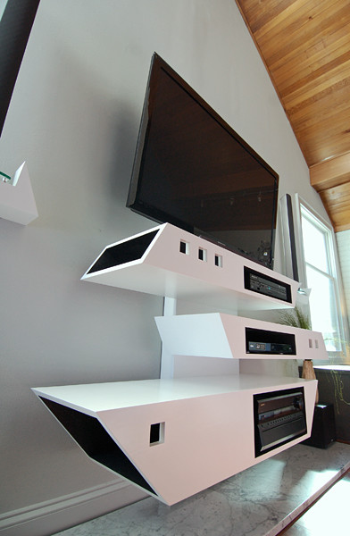 Home office space master bedroom with custom cabinets modern charlotte by freespace Master bedroom tv setup
