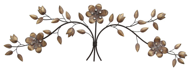 stratton home decor over the door floral bouquet wall decor contemporary metal wall art by. Black Bedroom Furniture Sets. Home Design Ideas