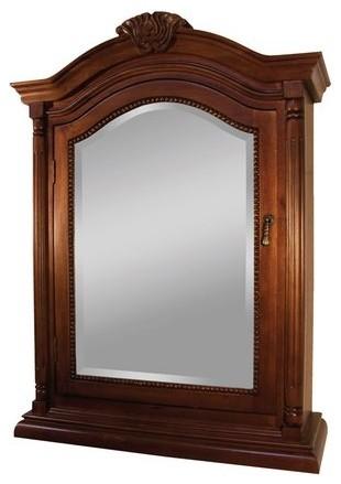 "25"" Wingate Mirrored Medicine Cabinet, Deep Cherry."