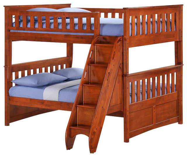 Awesome Full Over Full Bed Part - 13: Night And Day Ginger Full Over Full Bunk Bed With Storage Stairs Bunk-beds