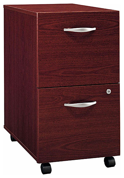 File Cabinet in Mahogany, Series C - Contemporary - Filing Cabinets - by ShopLadder