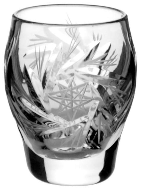 Pinwheel Lead Crystal Vodka Glasses, Set of 6