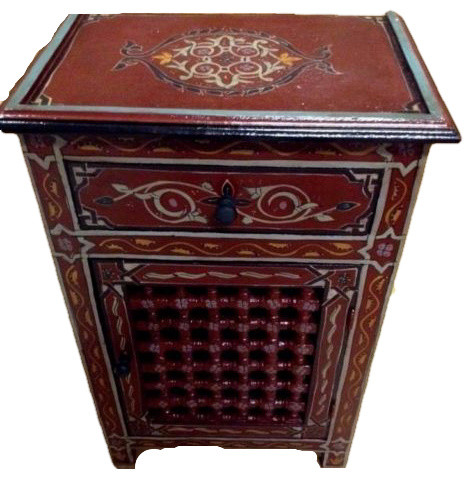 Moroccan Moucharabi Moucharabieh, Nightstand End Table, Arabic Design  Furniture