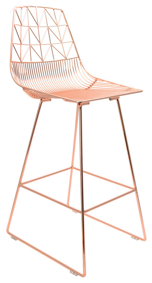 Arrow Copper Bar Stools