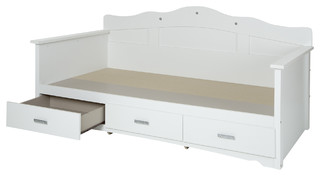 South Shore Tiara Twin Daybed With Storage, Pure White