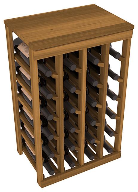 Wine Racks America 24-Bottle Kitchen Wine Rack, Premium Redwood, Oak Stain