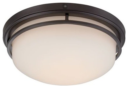"Ramsey 15"" Led Flushmount, Oil Rubbed Bronze."