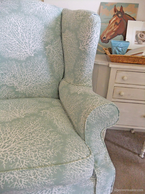 Wing Back Chair Slipcover