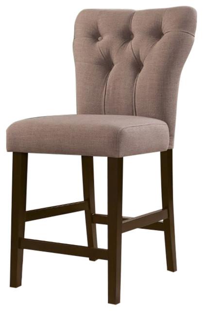 Sensational Counter Height Chair Light Brown Set Of 2 Inzonedesignstudio Interior Chair Design Inzonedesignstudiocom