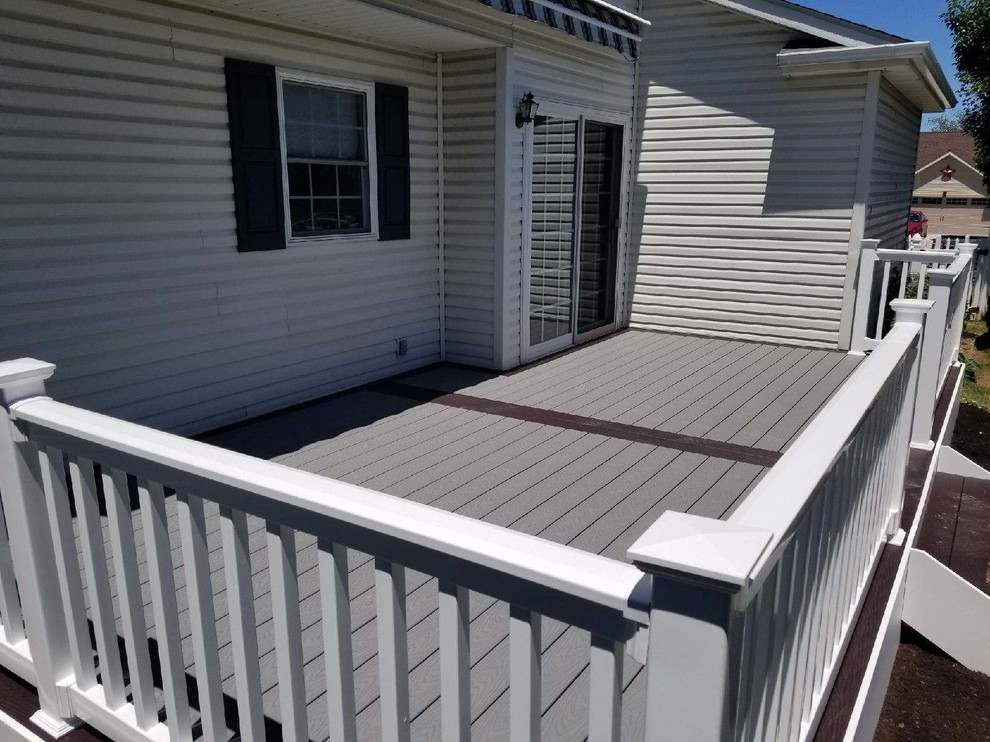 Deck Replacement - from Wood to Composite Picture Frame design