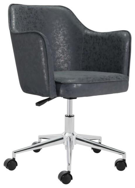 Fabulous Zuo Modern 100771 Keen 24 Steel Frame Office Chair Evergreenethics Interior Chair Design Evergreenethicsorg