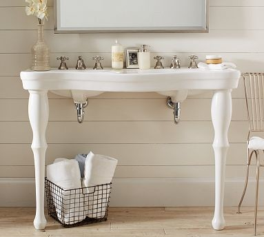 double pedestal sink bathroom parisian pedestal sink console traditional 18180