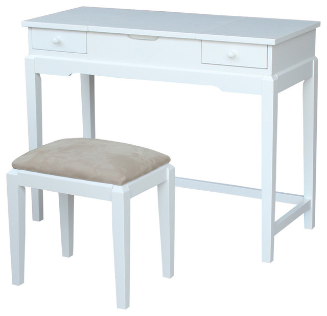Juleanne Vanity Table With Bench Snow White