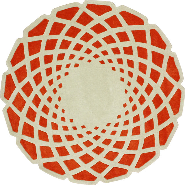 nuloom cine luminous orange rug  contemporary  area rugs  by, Rug/