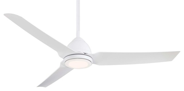 Minka Aire Java Led 54 Indoor/outdoor Ceiling Fan With Remote Control, Flat Whi.