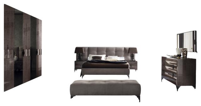 Rossetto Dune 6 Piece Bedroom Set, Queen Transitional Bedroom Furniture Sets