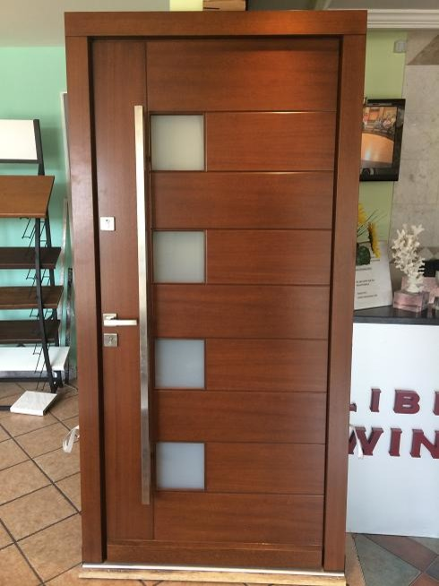 Modern Meranti Wood Exterior Doors In Stock Sale Size W 42 X