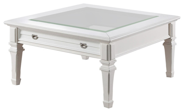 Acme Adalyn Coffee Table, White.