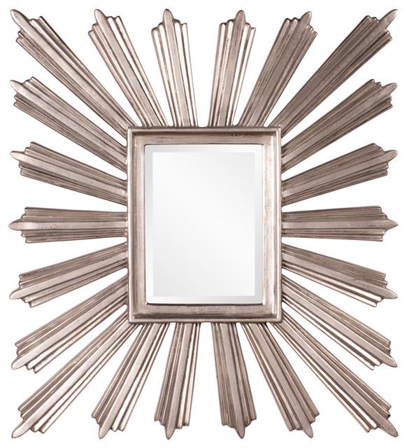 Unique Howard Elliott Jericho Square Starburst Mirror Home Decor Midcentury  Wall Mirrors