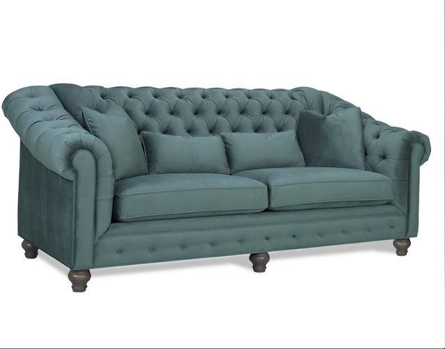 Shelby Chesterfield Sofa, Teal.