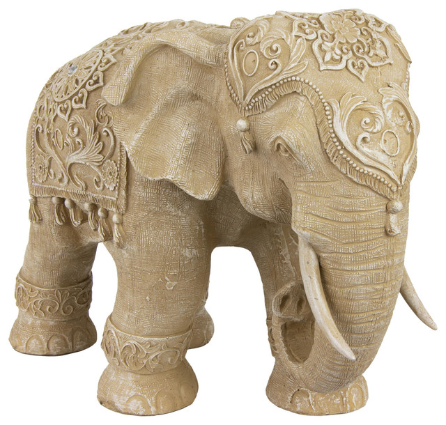 20 Quot Ivory Elephant Statue Traditional Home Decor By