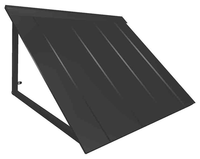 7&x27; Houstonian Metal Standing Seam Awning, Black.