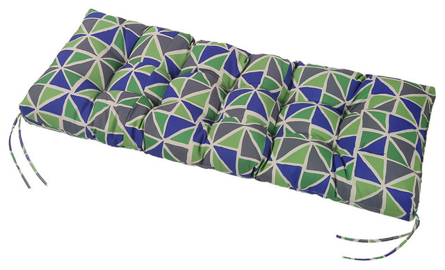 LNC Tufted Indoor Seat Cushions Outdoor Patio Bench Cushion Geometric Green
