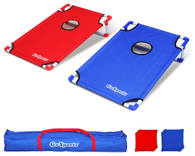GoSports Portable PVC Frames CornHole Game Set