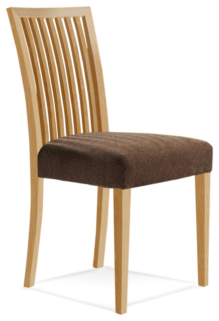 Graz Upholstered Side Chair, Natural Finish, Sunbrella Sahara Upholstery