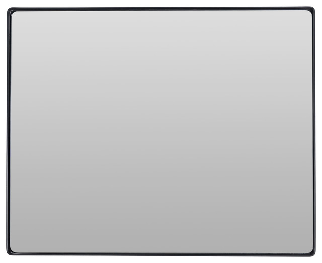 Aria Rectangular Mirror, Black by Varaluz