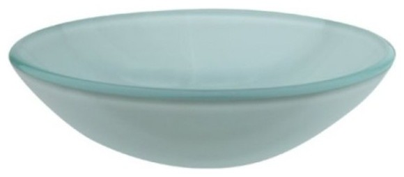 Light Green Frosted Glass Vessel Bathroom Sink Without Overflow Hole Evspfg1.