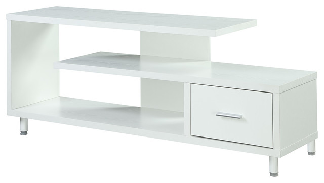 "Designs2go Seal Ii 60"" Tv Stand, White."